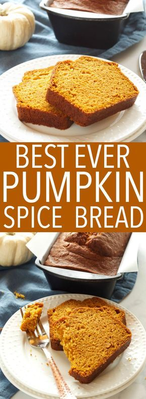 This Best Ever Pumpkin Spice Bread is moist and flavourful and packed with pumpkin and spices, and it's so easy to make in only one bowl! Recipe #fallpumpkinrecipe #besteverpumpkinloaf #besteverpumpkinrecipe #easypumpkinrecipe via @busybakerblog