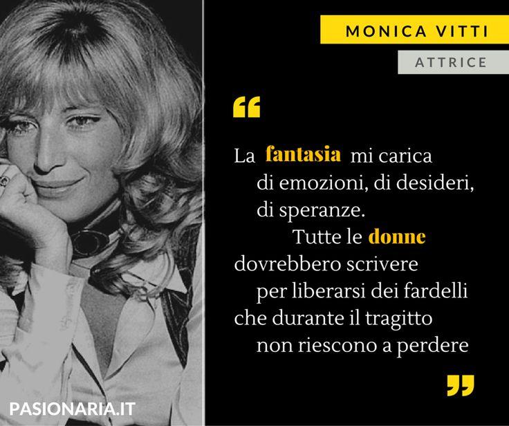 L'attrice Monica Vitti è la donna scelta da Alessia in occasione della Giornata Internazionale della Donna #8marzo #PasionariaIT #femminismo #feminism #quotes