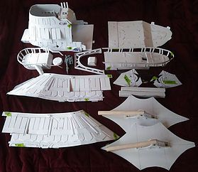 McRobo Creations - Star Wars Jabba's Sail Barge Deluxe Kit, Compact for Shipping and Ready to Paint!
