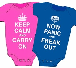 I could've used these...: Twin Clothing, Girls Generation, New Parents, Funny Twin, Boys Girls Twin, Twin Onesies, Twin Outfit, Keep Calm, Baby Stuff