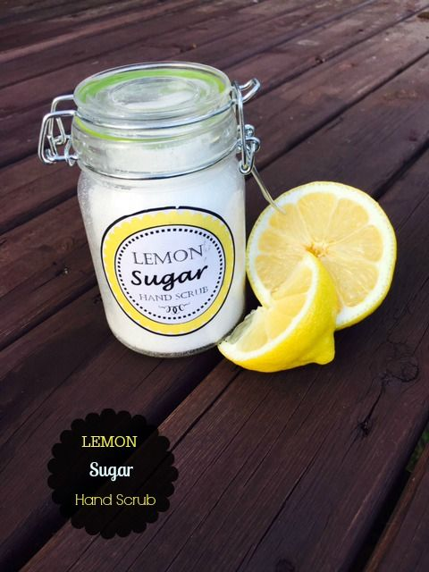 This Lemon coconut oil sugar scrub will leave your hands exfoliated and silky smooth plus with a light scent of lemon to brighten your day.