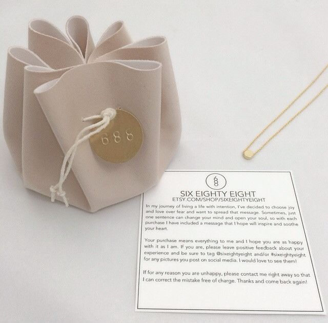 Packaging for SIX EIGHTY EIGHT necklaces - great for storing and traveling with your jewelry!