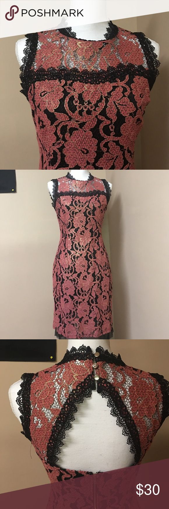 Gorgeous Filly Flair dress with amazing detail! Beautiful mauve flowers accented by gold detail! Gorgeous Filly Flair Dress in Large. Filly Flair Dresses Midi