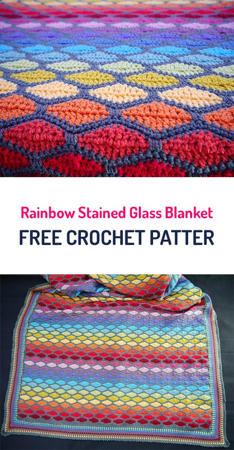 Rainbow Stained Glass Blanket
