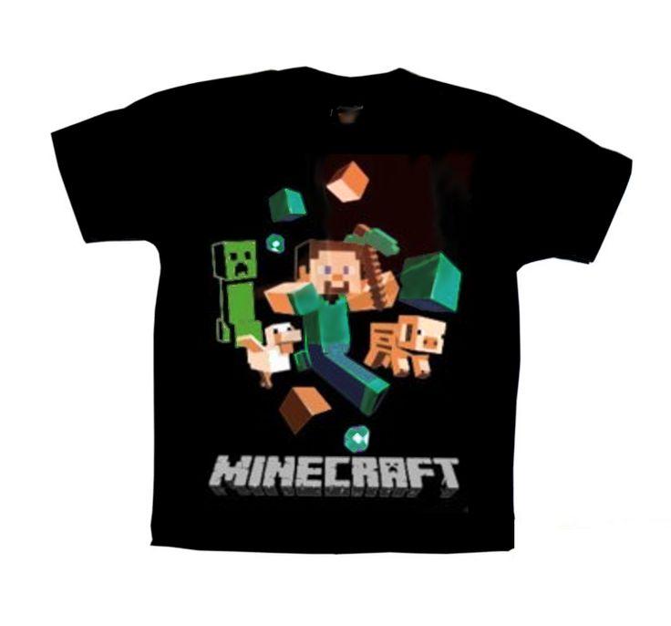 Camiseta Minecraft em http://www.katanapresentes.com.br/59404/camiseta-minecraft #minecraft #steve #camisetasestampadas #love