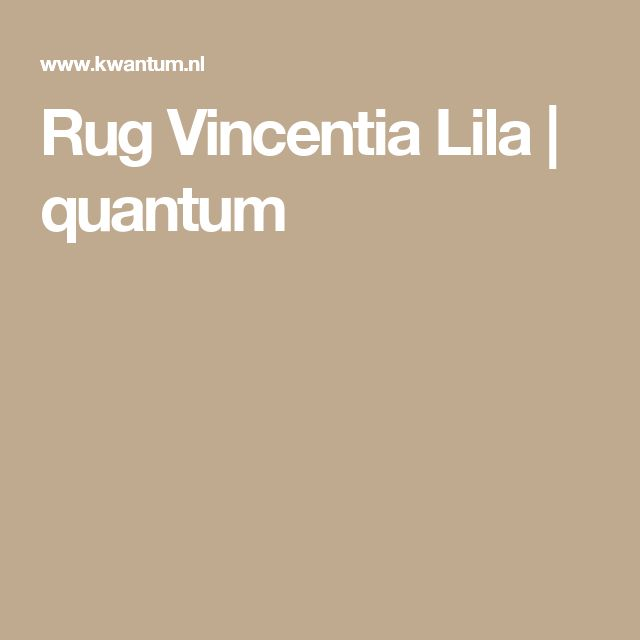 Rug Vincentia Lila |  quantum