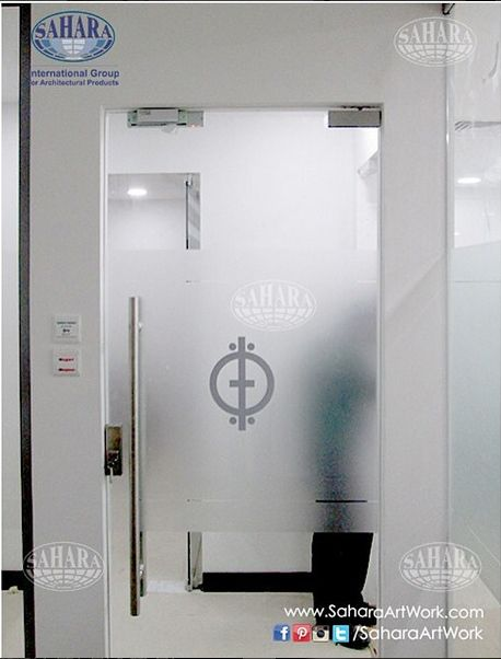 Create a beautiful play of silhouettes in your houses or offices by sandblasting your glass doors and partitions.