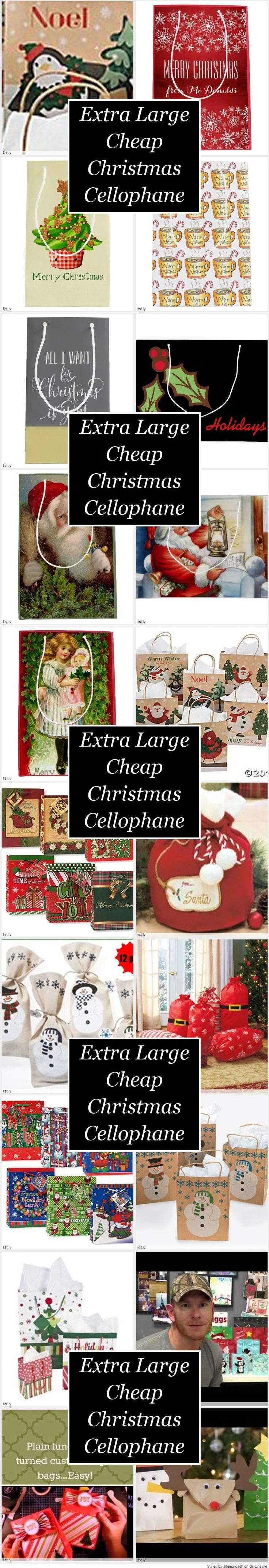 Extra Large Cheap Christmas Cellophane Gift Bags - You will probably need quite a few extra large cheap Christmas gift bags to put all of your Christmas presents in.