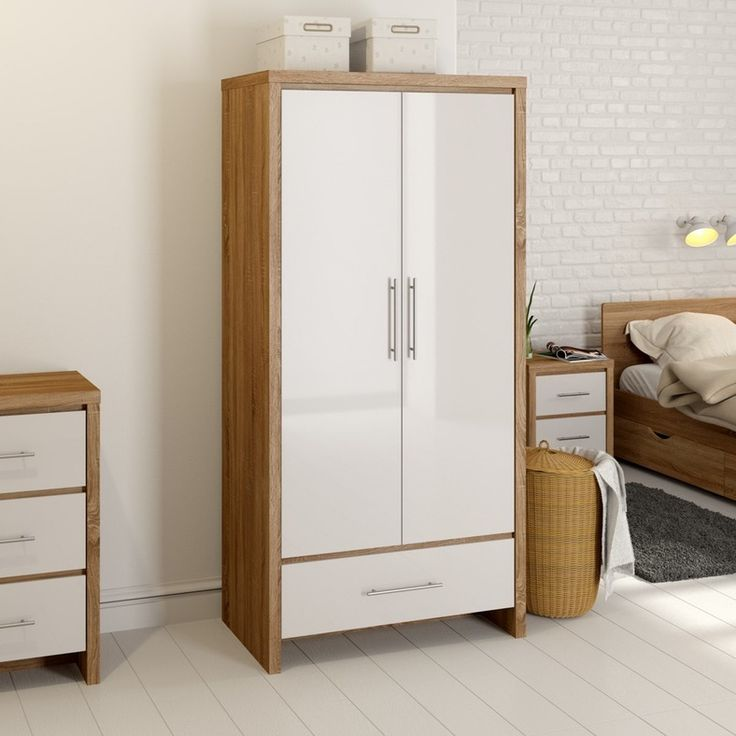 MFI London oak and white gloss 3 door wardrobe | Products Hanging wardrobe and Wardrobes & MFI London oak and white gloss 3 door wardrobe | Products Hanging ... pezcame.com