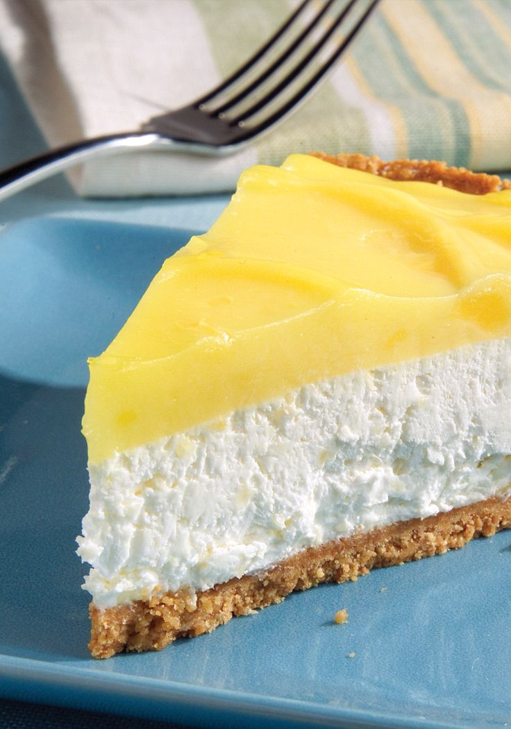 Layered Pineapple-Lemon Cheesecake Pie- This Pie combines the flavors of lemon and pineapple to make a cheesecake that will surprise everyone.
