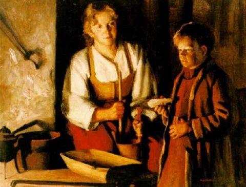 Sam Uhrdin. FLÖRGÅS. Olja på duk. 73 x 92 cm   Flörgås by Sam Uhrdin