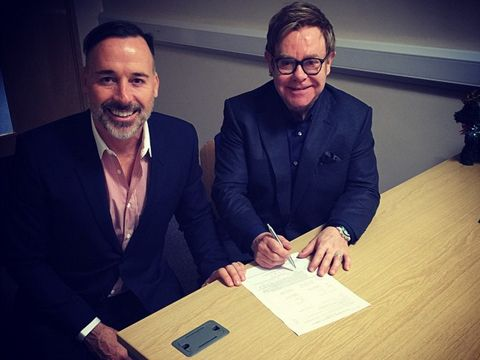 Sir Elton John and David Furnish tied the knot for the second time on Sunday! See the pics!
