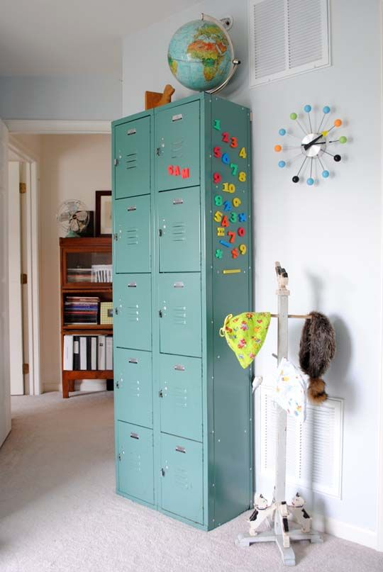 Love these metal lockers would be great for a tween or for Decorative lockers for kids rooms