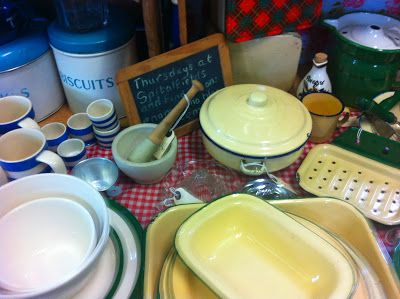 Vintage baking wares and kitchenalia at our monthly event!  www.northlondonvintagemarket.co.uk