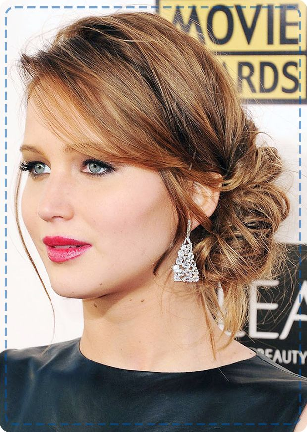 Jennifer Lawrence knows how to rock a laid-back updo!