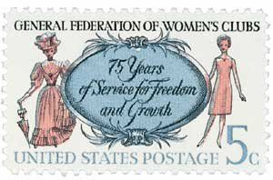 #1316 - 1966 5c Gen. Federation of Womens Clubs Postage Stamp Numbered Plate Block (4) . $0.25