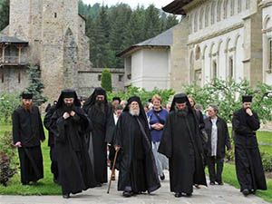 Monks in Putna