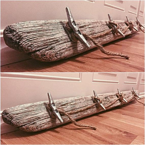 Driftwood Boat Cleat Hanging Rack by TidalBayTreasures on Etsy