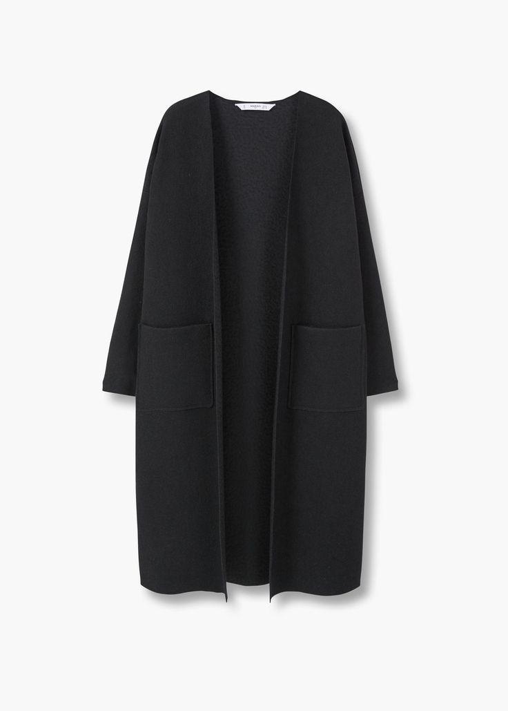 Пальто ручной работы | MANGO МАНГО