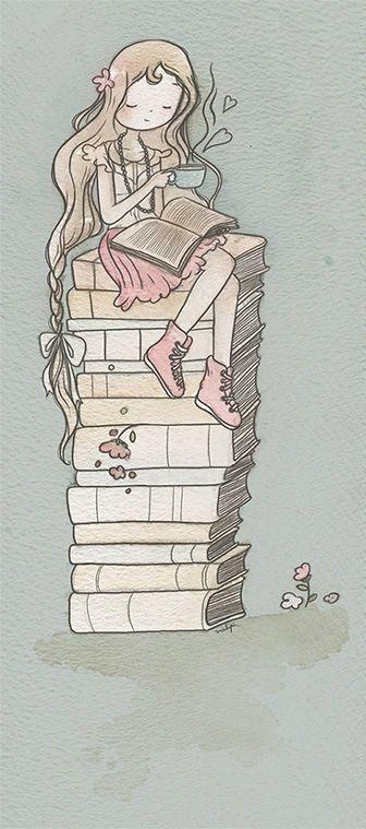 Amor por livros e café #book