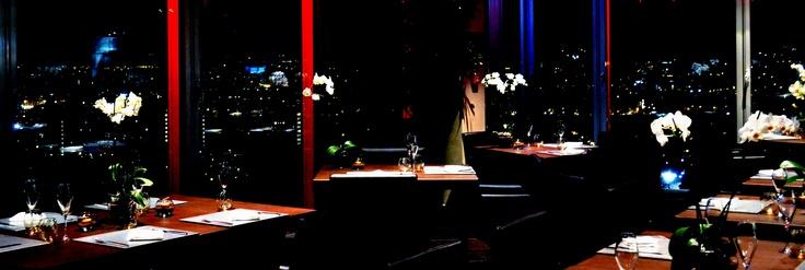 la sala del ristorante Unico, al 20° piano del World Join Center
