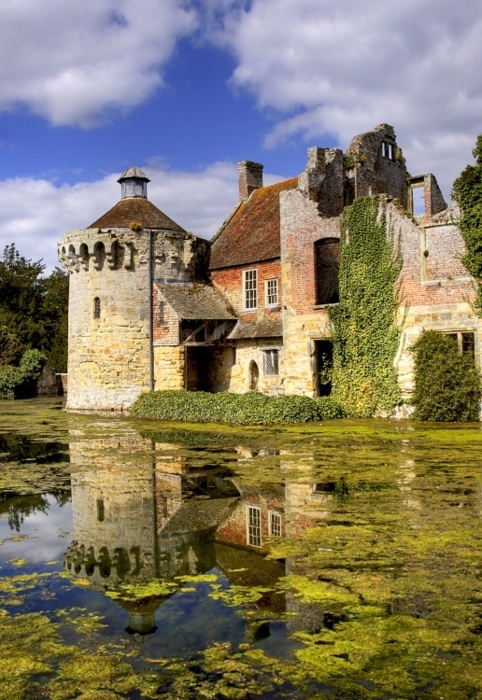 Scotney Castle - Kent - UK is an English country house with formal gardens south-east of Lamberhurst in the valley of the River Bewl in Kent, England. It belongs to the National Trust. The earliest record from 1137 gives the owner of the estate as Lambert de Scoteni. Roger Ashburnham is credited with building the castle c.1378-80.