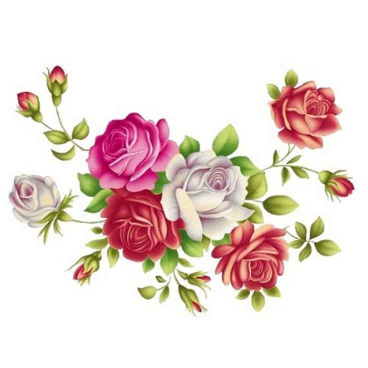 Маленькие цветочки для открыток