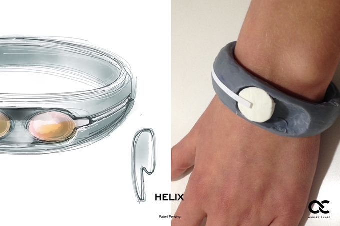Helix: The World's First Wearable Cuff with Stereo Bluetooth Headphones designed by Former Lead Industrial Designer at Nokia and Nest. @ashleychloeinc #ashleychloe #technology #HelixCuff #kickstarter #wearables #fashion #tech #headphones #crowdfunding www.ashleychloe.com