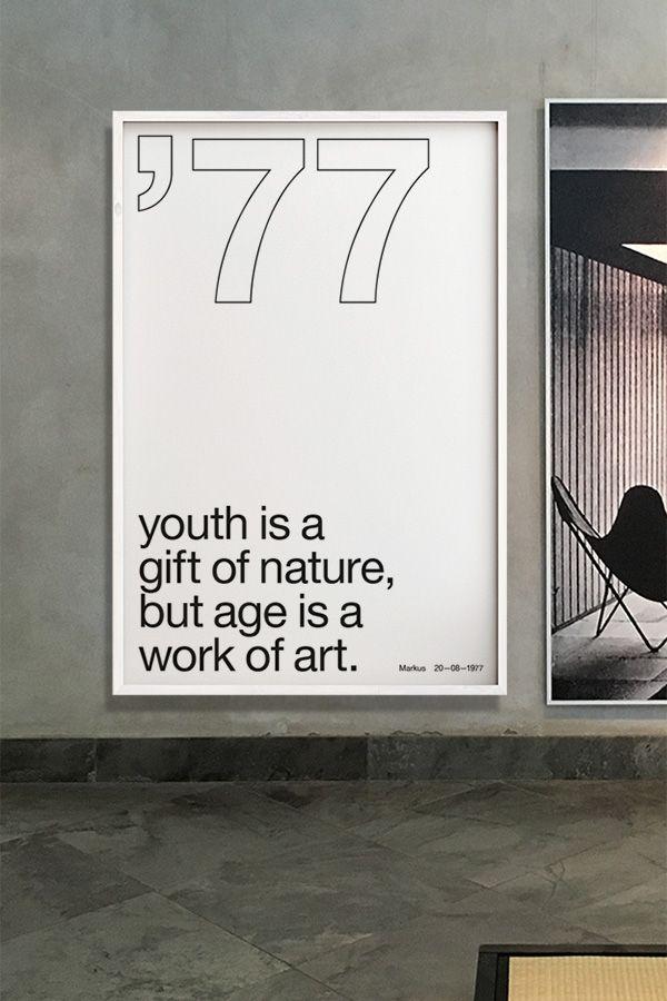 ✖️Your Birth Year N°3✖️Dein Text, dein Poster! Bei den Birthday-Motiven kannst du dir dein individuelles Geburtstags-Poster gestalten und auf Fine-Art-Papier drucken lassen. Was für eine wunderbare und einzigartige Geschenkidee! #hahnemühle #artprint #geburtstag #geschenk #idee #poster #yourownage #wandbild #typografie #grafikdesign #plakat #typo #geschenkidee #scandinavian #clean #stilvoll #einrichtung #look