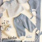 Modrobílá soupravička s přikrývkou