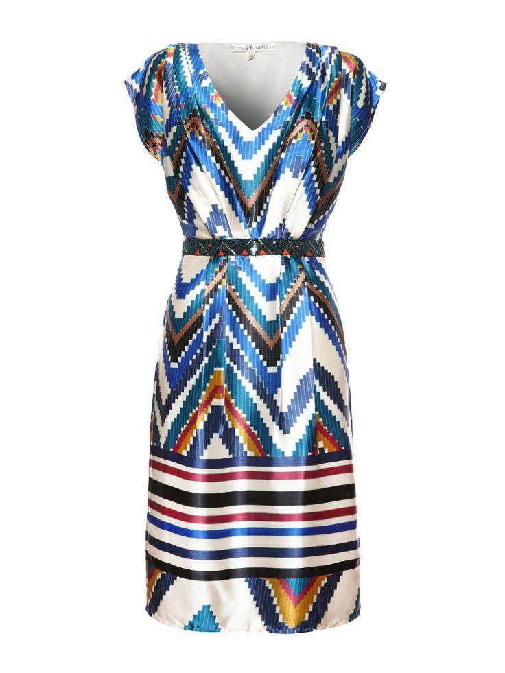 Uttam Boutique Aztec evening dress