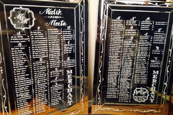 Check out Hand Drawn, Calligraphy  Frameless Mirror Seating Charts for Weddings on coastalcalligraphy