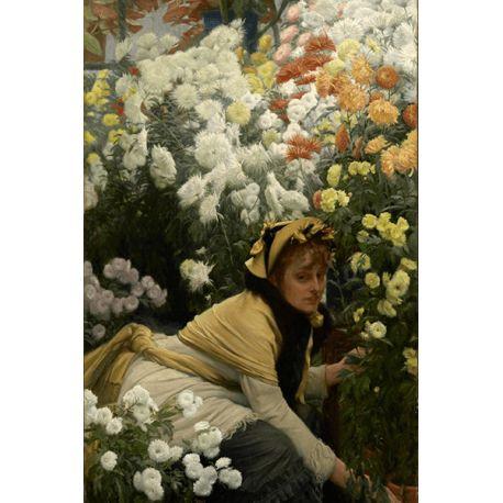 Reprodukcje obrazów James Tissot Chrysanthemums - Fedkolor