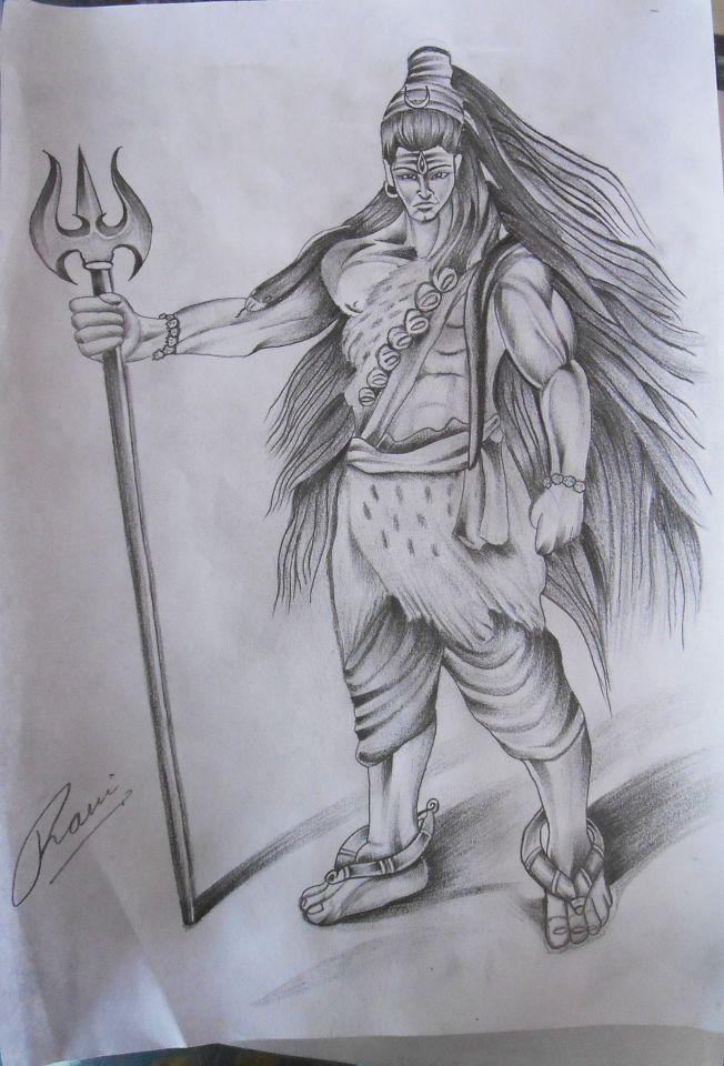 Lord shiva sketch shiva shivasketch shiva religious black trishul