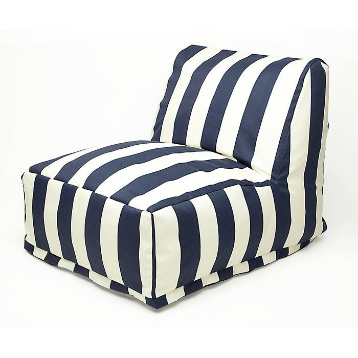 Vertical Stripes Bean Bag Chair Lounger would be so cute in a little girls navy white and pink bedroom!