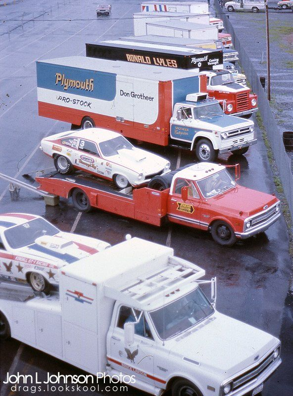 Great shot, this was when drag race match racing was going on. There were few National events so the racers made a living touring the USA and racing each other a couple times a week.