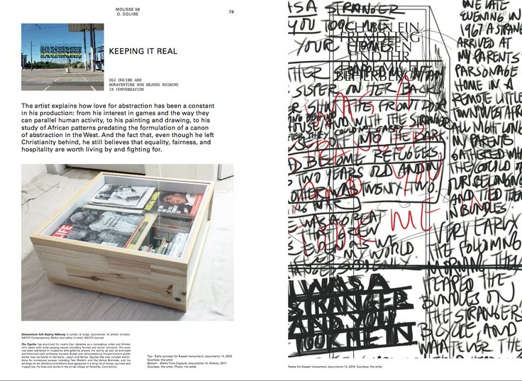 Olu Oguibe Bonaventure Soh Bejeng Ndikung Keeping It Real  Mousse 58 Learning from Athens. An issue about documenta 14