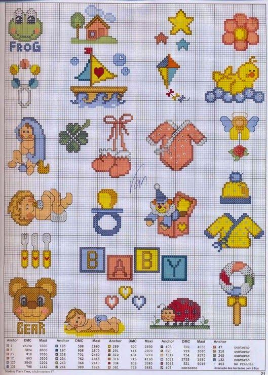 Gráficos ponto cruz baby