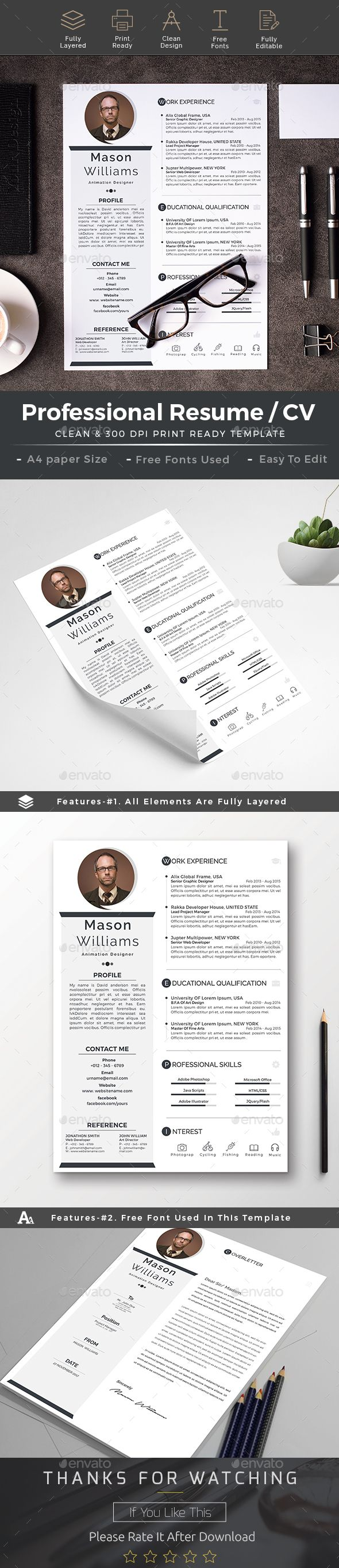 Resume cv word 599 best CvResumesPortfolio images