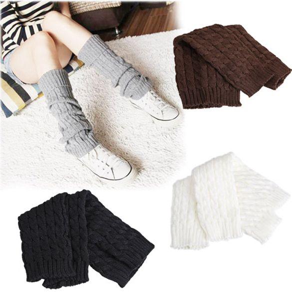 Amore delle donne di inverno knitting socks manica della ragazza knit crochet boot polsini scaldamuscoli ghette 4 colori