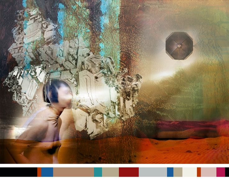 """Fashion from the backstage: Our FW2014-2015 """"Sandstorm"""" was strongly influenced by the Star Wars episodes. In this moodboard are all the elements we tried to convey in the collection, representet by 5 key-words: Oxidized dusk, stellar vacuum, luminous fusion, hypersimplification, linear maze. #moodboard #palette #collection #starwars #newdesigners"""