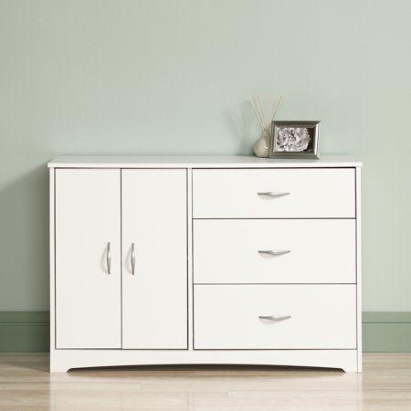 Best Sauder Beginnings Dresser Soft White Finish Size 45 Inch 400 x 300