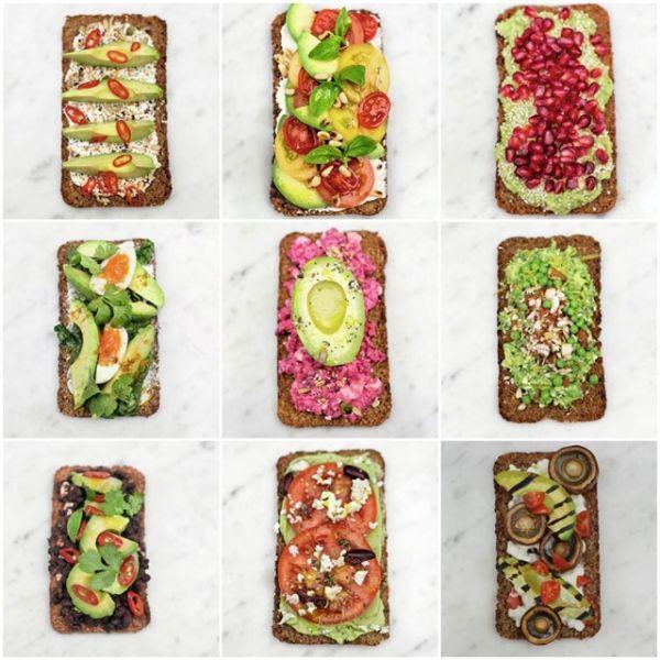 Avokado tost na devet načina