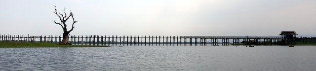 U Bein's bridge at Amarapura- Burma