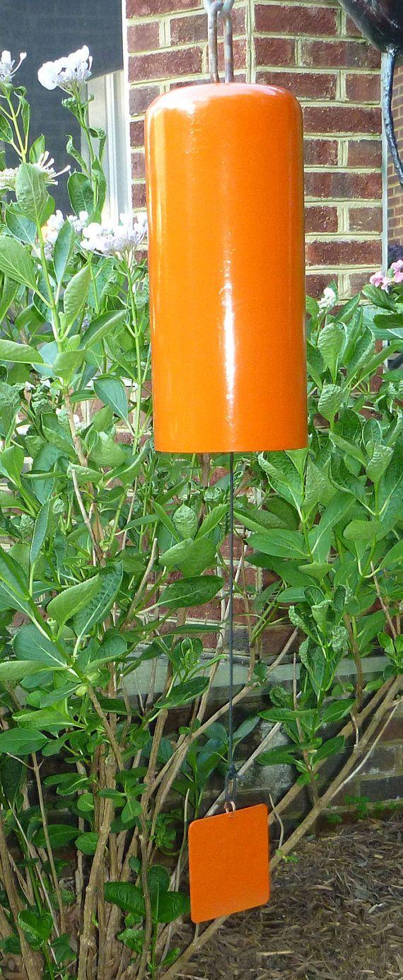 Homemade garden art - Fire Extinguisher Tank Bell Wind Chime Gong