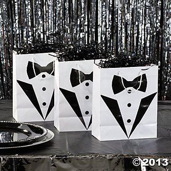 Medium Tuxedo Wedding Gift Bags - Oriental Trading