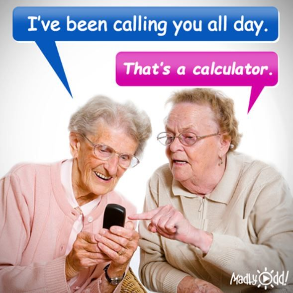 You may as well laugh about getting older! #PHONE #OLD #AGE #HUMOR &…