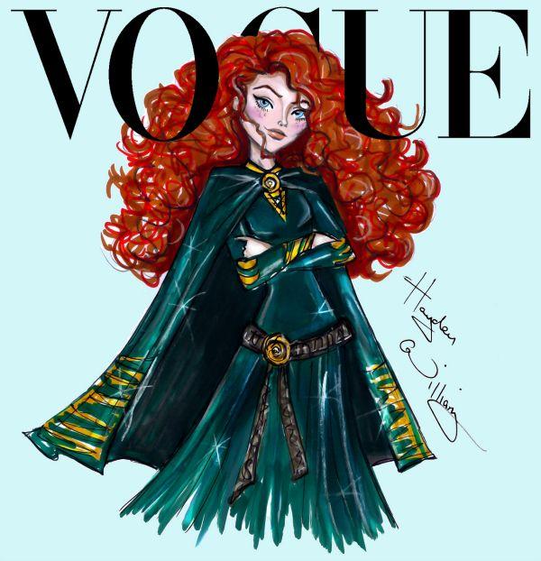 Disney Divas by Hayden Williams for Vogue, Merida from Brave #merida #brave #disneyprincess