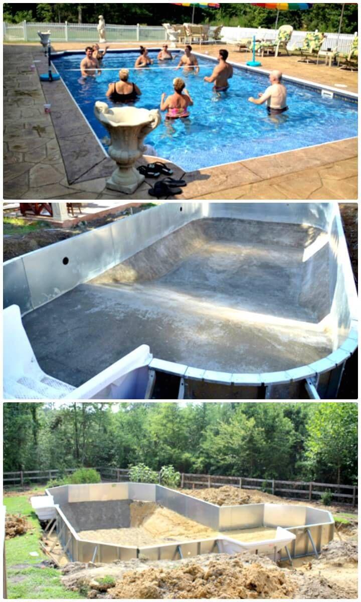 12 Low Budget Diy Swimming Pool Tutorials Crafts