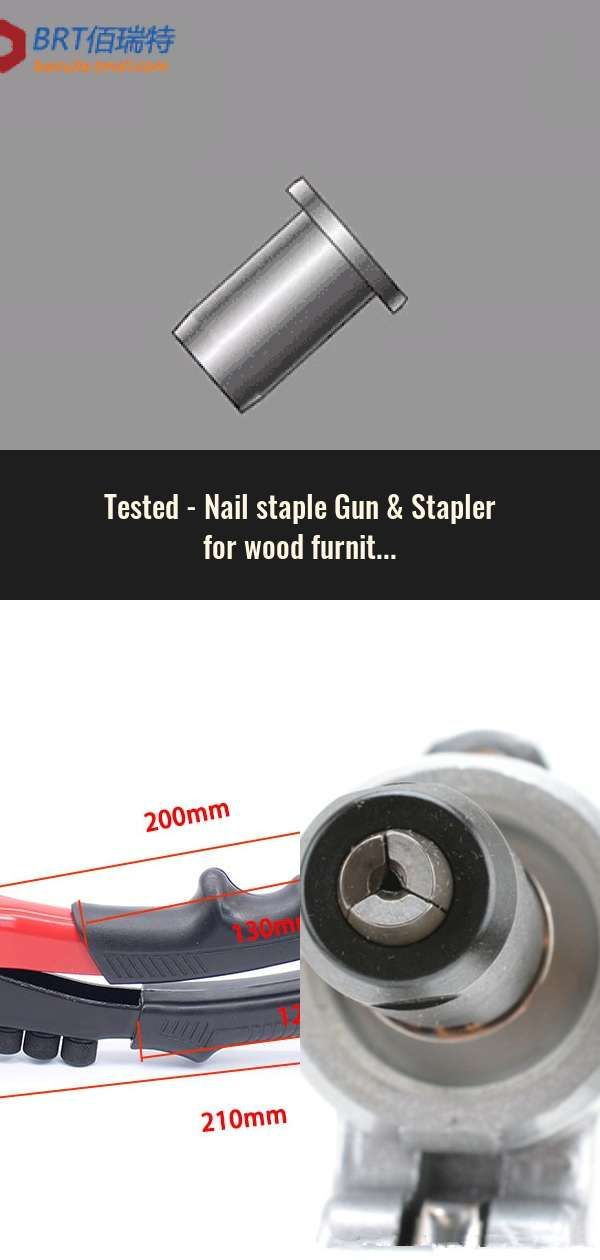 Nail Staple Gun Stapler For Wood Furniture Door Upholstery Chrome Finish With 800 Nails
